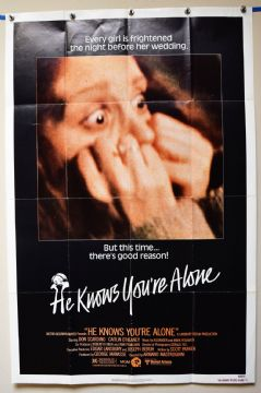 He Knows You're Alone Horror Poster - US One Sheet